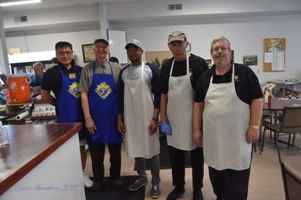 June 22nd, Columbian Service Day.  Thanks to James Vollmer who sat on the committee that organized the multi-council event.  Also, thanks to the several guys who helped prepare and serve food to the needy at St. Joe's Soup kitchen.