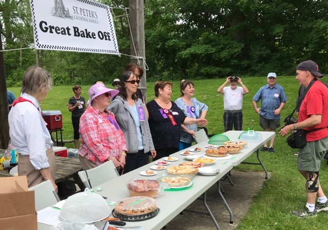 The Great Bake Off: Another parish picnic tradition... these pies look so delicious!