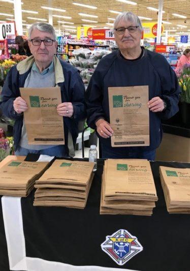 Bros Joe & Bob working at the Spring 2019 Food Drive
