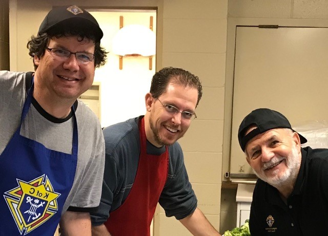 Bros. Martin Healy, Jaye Bowers & Sam Circelli keeping their finger on the pulse of the action in the kitchen.
