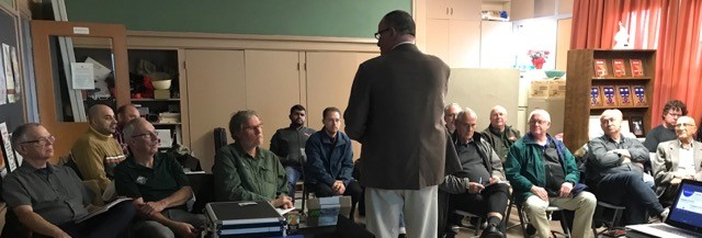 Brother Knights at our November council meeting, where we welcomed Bro. Wayne Fink, who spoke about our order's new recruitment program.