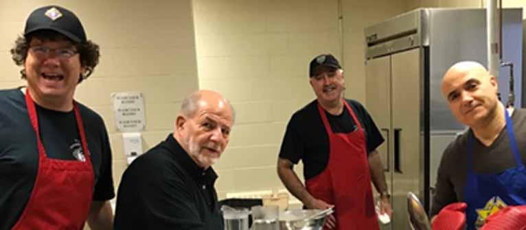 Bros. Martin Healey, Sam Circelli, Pat Hogan and Gio Susini keep the kitchen running smoothly.