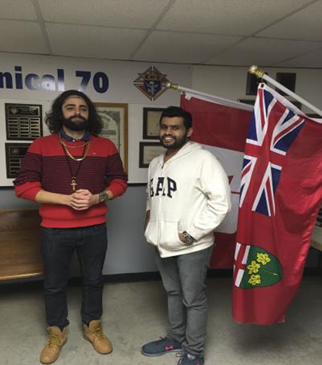 Brothers Jithin Thomas and Juan Rogas receive their Second and Third degrees.