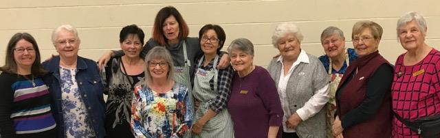 Members of the CWL joined us as well, serving the food, and welcoming our guests.